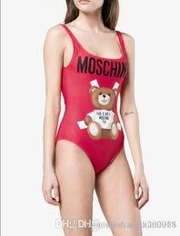 Deutschland 2019 Bärendruck Beachwear Marke Hohe Qualität Sommer Bademode Bikini Frauen Sexy Schwarz Open Back Bademode Versorgung