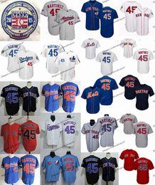Jersey pedro martinez on-line-Vintage 1994 de Montreal Expos 45 Pedro Martinez jérseis de basebol 2015 Hall of Fame Pedro Martinez MetsDodgersRedSox costuradas Shirts