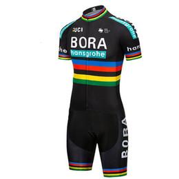 2019 rosso pattino di ciclismo 2019 pro team BORA aero Ciclismo tuta monopezzo manica corta estate abbigliamento bici MTB Ropa tuta ciclismo