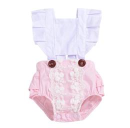 felpe con cappuccio Sconti Pagliaccetto del bambino INS infantili volanti manica delle tute 2019 vestiti di estate bambini boutique di moda bambini designer di abbigliamento ragazze BY0826