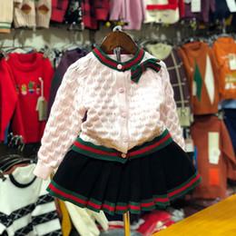 Argentina Ropa para niños Chica Otoño Ropa para niños Set 2019 Nuevo patrón de traje de suéter estilo coreano Twinset niños en Will niño occidental supplier kids western clothes Suministro