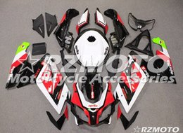 Scaffale per aprilia rs125 online-Nuovi kit carenatura completa ABS di qualità OEM adatti per Aprilia RS125 2006 2007 2008 2009 2010 2011 Set di carrozzeria Custom White Red