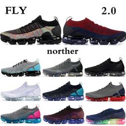 2019 Nike vapormax flyKnit 2.0 Running Shoes Hombres Mujeres Tiger Pack Zebra Negro Blanco Metálico Oro Zapatos de diseño Zapatillas de deporte deportivas Entrenador EE. UU. desde fabricantes