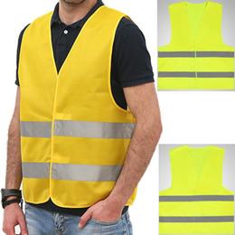 Gilet réfléchissant jaune tricoté gilet en tissu gilet de sécurité réfléchissant une veste jaune de taille unique pour les sports en plein air ? partir de fabricateur