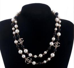 cristal de azúcar al por mayor Rebajas Collar de joyería de moda las mujeres collar de perlas suéteres Rose plateó DesignePearl de mujer Accesorios mejores regalos