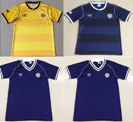 Camiseta de futbol de escocia online-1982 Escocia camisetas de fútbol retro Copa del mundo local 82 83 Dalglish Strachan Miller Souness Hansen George Wood camisetas de fútbol Tailandia xxl