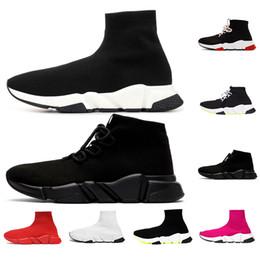 zapatos de chocolate caliente Rebajas scarpe balenciaga Venta caliente Calcetín diseñador Speed Trainer Brand Shoes negro blanco rojo plana Moda Calcetines Botas Zapatillas de deporte Entrenadores Runner tamaño 36-45