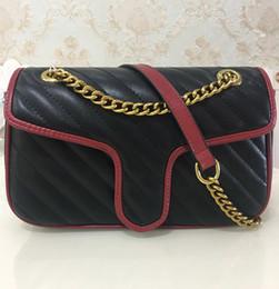 sacchetto del messaggero della cinghia di catena Sconti Vendita calda di alta qualità borse da donna 26 cm donne catena d'oro cinturino tote bag borse a tracolla borsa a tracolla femminile borsa messenger bag 443497