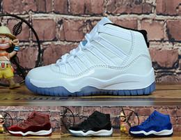 Canada Nike Air Jordan 11 Chaussures de basket pour enfants Retro 11 Concord Space Jam Legend - Chaussures de sport pour enfants - Bleu XI - Baskets - Filles - Baskets de randonnée Offre