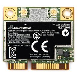 wlan bluetooth Desconto zurewave broadcom bcm94352hmb AzureWave Broadcom BCM94352HMB 802.11ac 867Mbps Wireless-AC WLAN + Bluetooth BT 4.0 Metade Mini PCI-E sem fio ...