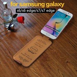 cassa verticale samsung s6 Sconti Per samsung galaxy S8 / s8 plus / s6 / s7edge Custodia Flip verticale Custodie in pelle per Samsung Galaxy s9 / S7 Edge / note 8 cover fundas
