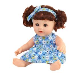 Gomma di gomma online-Simulazione intelligente baby doll bambola bagno bambola in gomma morbida ragazza giocattoli della prima infanzia