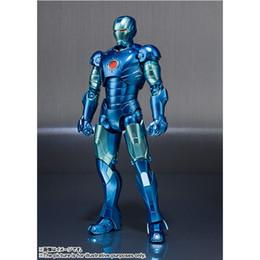 15cm Marvel SHFiguart Vingadores Homem de Ferro MK3 Blue Ver. O modelo móvel comum da coleção do boneco de acção do PVC de IronMan caçoa o presente dos brinquedos de Fornecedores de ferro brinquedo homem azul