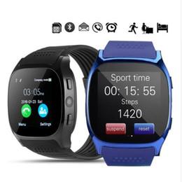 reloj t8 Rebajas relojes inteligentes reloj de la cámara de Bluetooth T8 pulsera de Android teléfono inteligente FM SIM reloj teléfono móvil inteligente de Estado del sueño Deporte inteligentes