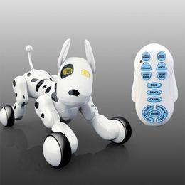 Cão de Controle Remoto inteligente Cantando E Dança Robô Dog Eletrônico Inteligente Brinquedo Educacional Para Crianças Presente de Aniversário Presente de Aniversário T190622 de Fornecedores de raposa eletrônica