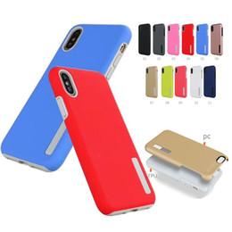 Anti-chute givré Mat dur PC + Étui antichoc TPU souple de téléphone pour iPhone XS Max Plus XR X 8 Plus 7 6s 6 Plus Samsung S9 PLUS S8 NOTE 9 A6 2018 ? partir de fabricateur