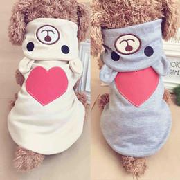 2019 traje de urso cão Roupas cão de estimação para o cão pequeno roupas de algodão Hoodies casaco para Chihuahua Animais Cães Roupa de inverno fantasia de urso amor Pijama traje de urso cão barato