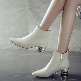 e8d8f09dd0f Pointed Toe Ankle Boots For Women Genuine Leather Shoes Fashion Autumn  Spring Women High Boots Sexy High Heels Quanlity discount genuine leather  sexy boots ...