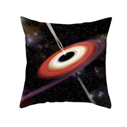 Buco del cuscino online-2019 Black Hole Federe soft Single-Faced Scientifico federa opaca Jeanette federa per Home Camera Copricuscino Ufficio