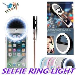 treppiede Sconti Camera clip Light Ring Flash selfie ricaricabile a LED di iPhone HTC Cellulari Samsung con la scatola al minuto DHL libero