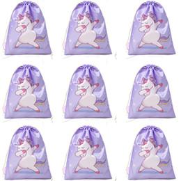 Canada Licorne Cordon De Poche Corde Tirer Sac À Dos Filles Mignon Sac Polyester Tissu Danse Cheval En Gros Sacs Rose Cadeau cheap wholesale pink dance bag Offre