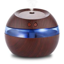 Оптовая 300 мл USB Ультразвуковой Увлажнитель Ароматический Диффузор Эфирное Масло Диффузор Ароматерапия туман создатель с синим светодиодом MIS191 от