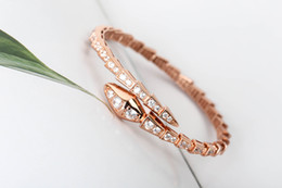 2019 cuentas de cristal de rubí natural 925 joyería de plata de la serpiente Fondo puro Cabeza anillo de la pulsera de oro rosa de oro Serpentina pulseras de cadenas Para brazaletes manera de las mujeres a3 Marca