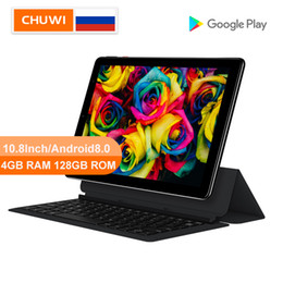 chuwi tabletas pc Rebajas CHUWI original Hi9 Plus 10.8 pulgadas Tablet PC MediaTek Helio X27 Deca Core Android 8.0 4 GB de RAM 128 GB ROM 2K de doble pantalla de la tableta 4G