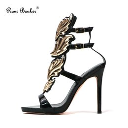 Women Fashion Sandals Female Gladiator Leaves High Heels Ladies Sexy Party  Peep Toes Shoes Hot Sale Free Shipping e5662d33574b