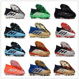 Hommes haut Bottines jeunesse Football Predator 18 x FG Accelerator DB Pogba Chaussures Enfants Football PureControl Purechaos Crampons de football