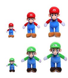 Brinquedos de super mario plush on-line-DHL transporte 25 centímetros Super Mario Bros brinquedos de pelúcia Mario e Luigi Bichos de pelúcia brinquedos de pelúcia para presentes do transporte livre