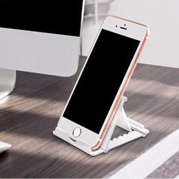 desktop-handys Rabatt Universal Klapptisch Handy Unterstützung Kunststoffhalter Desktop-Ständer für Ihr Smartphone Smartphone Tablet Support-Telefonhalter