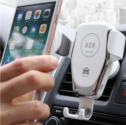 2019 sumsang mobile Q12 sem fio do carregador do telefone Para iPhone11 11Pro carregador de carro sem fio Max 8 Plus 10W carregamento rápido Para Samsung S9 Phone Holder Car Charger