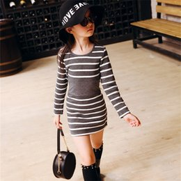 099335b1d43f 2019 Autumn Baby Girl Dress Striped Casual Teenagers Kids Clothes Cotton  Vestidos Children Clothing Girls Summer Dresses 4-13T