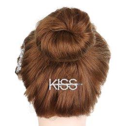 acessórios florais china Desconto Mulheres Doce Cabelo Cristal Jóias Única Carta Barrettes Hairwear para o Partido Das Meninas Do Miúdo Festa de Casamento Pinos de Cabelo e Grampos Headwear