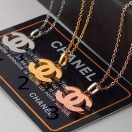 gemelli di lupo Sconti I nuovi 3 colori titanio 18K collana di modo di vendita dei monili caldi d'acciaio AMORE collana placcata in oro rosa con Platinum donna regalo di amore