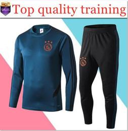 Mejores uniformes online-2019 2020 nuevo traje de entrenamiento Ajax MEJOR CALIDAD 2019/2020 chándal Ajax VAN DE BEEK DOLBERG Kluivert uniforme de fútbol Tamaño S-2XL