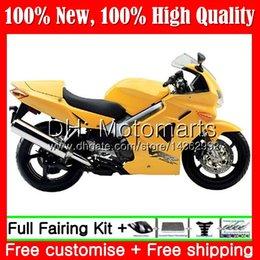 Carenado vfr amarillo online-Cuerpo para HONDA Interceptor amarillo brillante VFR800R VFR800RR 98 99 00 01 68MT3 VFR800 VFR 800RR 800 RR 1998 1999 2000 2001 Carenado Carrocería