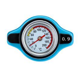 танк suv Скидка Freeshipping автомобиль аксессуар Термост радиатор крышка крышка + температура воды датчика 0.9 бар крышка синий