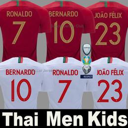 футбольные майки Скидка 2018 Португалия футбол Джерси RONALDO ANDRE SILVA Мировой кубок PEPE J.MARIO QUARESMA BERNARDO NANI EDER национальная сборная лучшее качество Таиланда