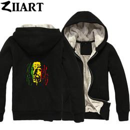 Bob Marley Rauchen Zigarette Paar Kleidung Jungen Mann Männlich Durchgehender Reißverschluss Herbst Winter Plus Samt Parkas ZIIART