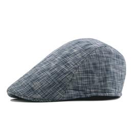 Moda casual cappello uomo e donna autunno a righe a contrasto colore berretto corto in cotone berretti da