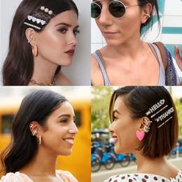 Estilos de piercing na orelha on-line-Estilo chique No Pierce Mulheres Pearl Ear Cuff Jóias Lapis De Pedra Natural Frisado Pequenos Brincos De Argola