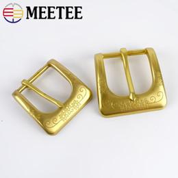 Deepeel 40mm 35mm Solid Brass Belt Buckle Men Women Belt Head Metal Pin Buckles DIY Leather Craft Jeans Accessories