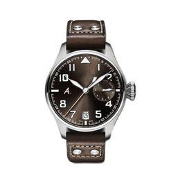 desenhador de relógios IW série piloto IW500422 grande display poder 46MM de discagem de pulso movimento automático de safira pulseira de couro vestido de