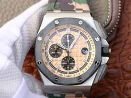 carcasa de acero Rebajas Jf-26400 reloj de lujo concha de acero anillo de cerámica 12H sincronización 3126 movimiento mecánico automático correa de goma de cristal de zafiro para hombre relojes