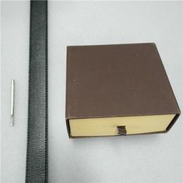 Cor ouro de luxo on-line-Homens Belt Designer Cintos Mulheres Cintos Designer de Luxo Belt Cintos de couro puro negócio Cobra Cor Big ouro fivela de cinto presente envio Com Box