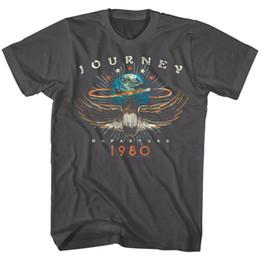 Concert t shirts xl en Ligne-Journey Departures Album Tour 1980 T-shirt Homme Rock Band Concert Vintage MerchFunny livraison gratuite Unisexe Casual T-shirt