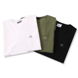 19ss luxe marque design Pocket petite broderie conception de broderie T-shirt Hommes Femmes Respirable Mode Streetwear Sweatshirts En Plein Air ? partir de fabricateur