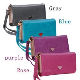 bolsas bonitas carteiras Desconto Atacado-Galaxy Mulher Dinheiro Clips Carteira Bolsa de couro agradável Bolsa Mulher PB702 * 50